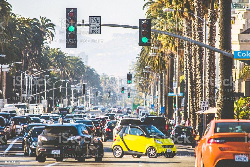 Santa Monica traffic. stock photo