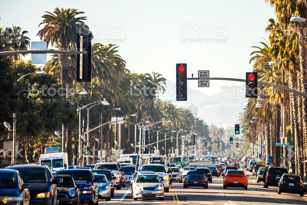 Santa Monica traffic. stock photo