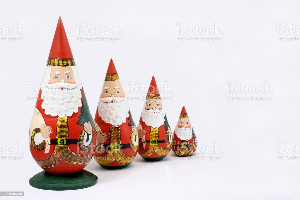 Santa Nesting Dolls royalty-free stock photo