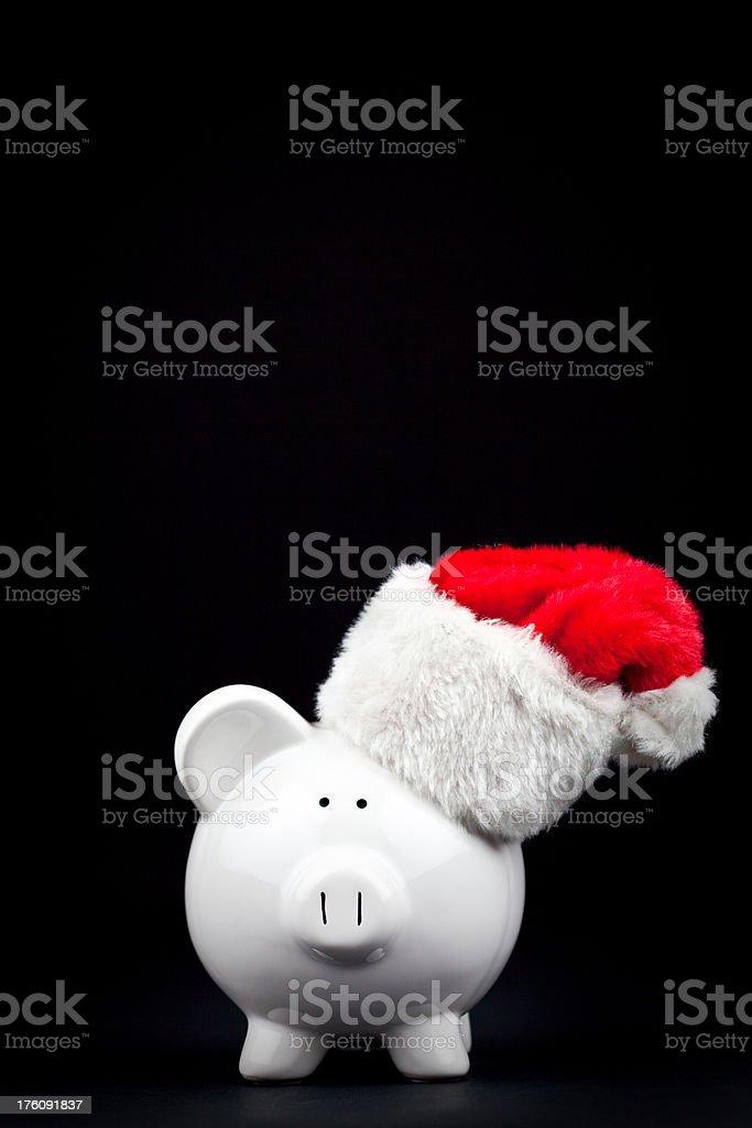Santa Piggy stock photo