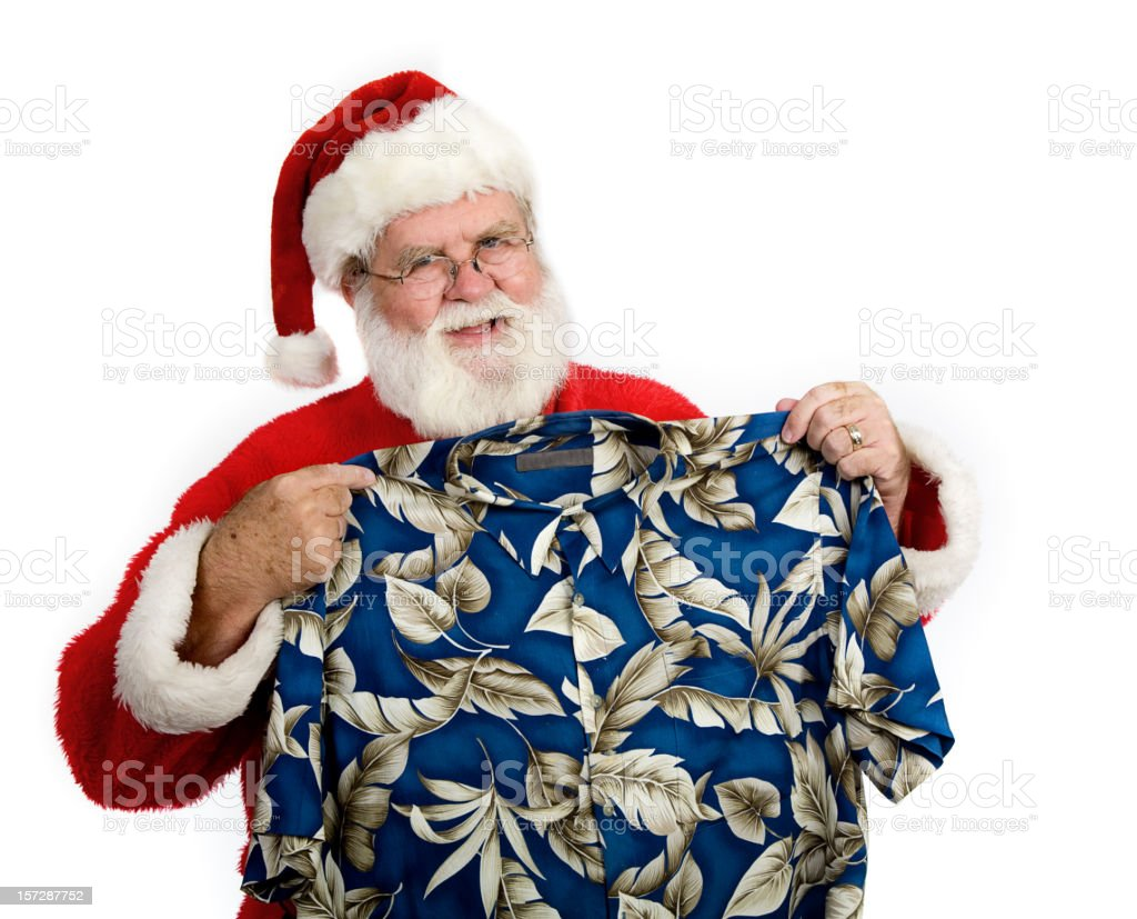 Santa Planning his Vacation royalty-free stock photo