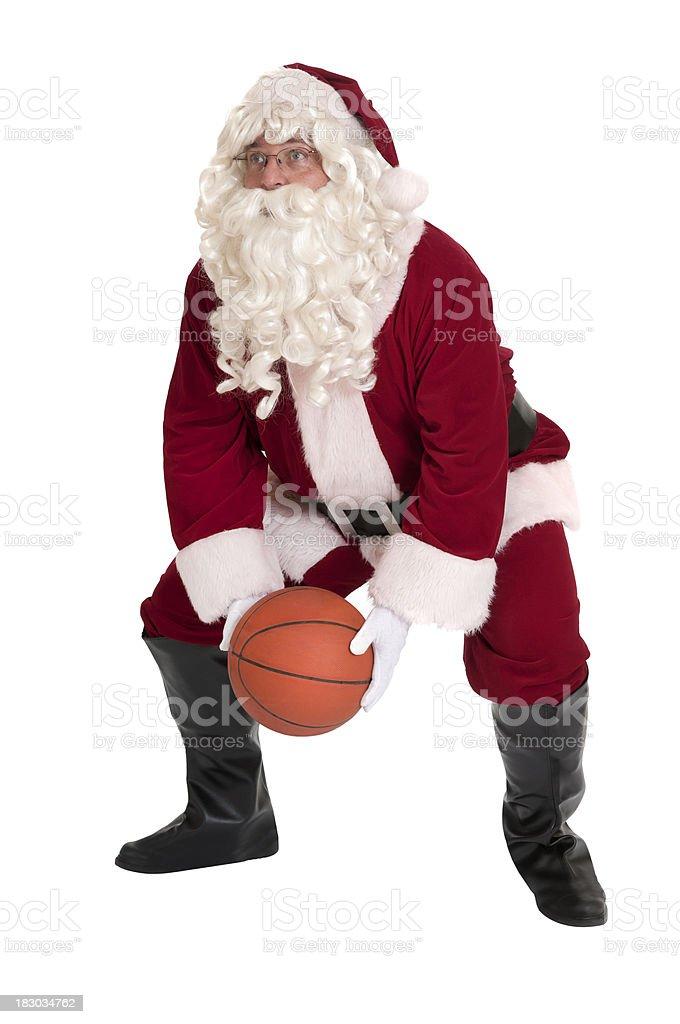 Santa Playing Basketball - Sports Series stock photo