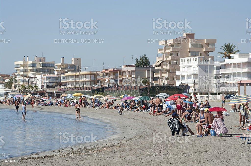 Santa Pola beachfront on hot autumn day royalty-free stock photo