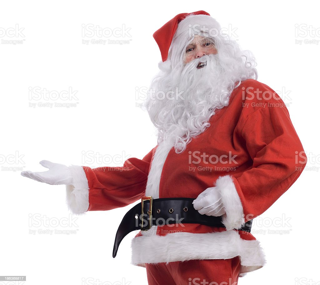 Santa presenting royalty-free stock photo