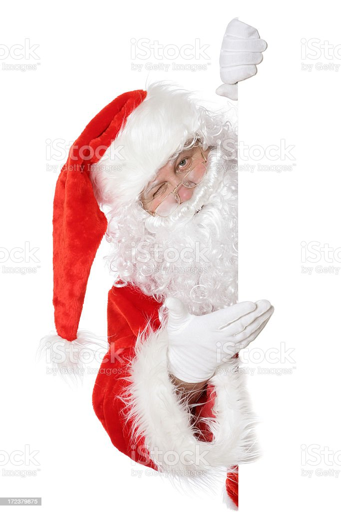 Santa presenting something royalty-free stock photo