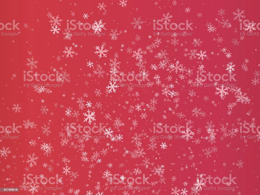 Santa Red Snowflakes royalty-free stock photo