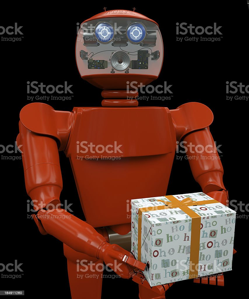 Santa Robot stock photo