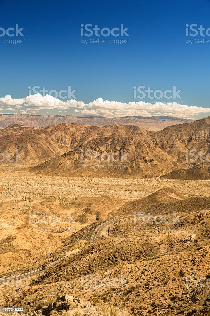 Santa Rosa and San Jacinto Mountains National Monument stock photo