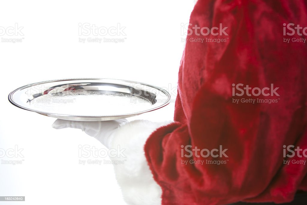 Santa Serves it Up royalty-free stock photo