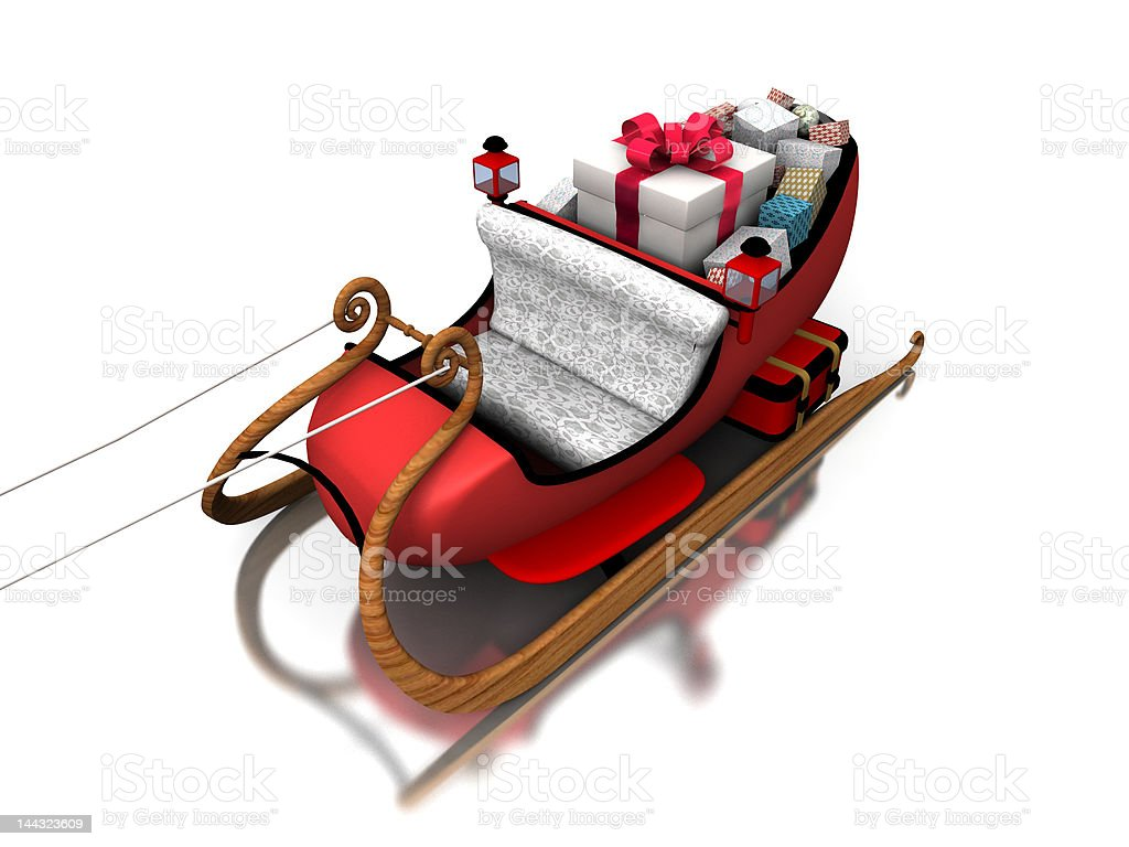 Santa sledges royalty-free stock photo