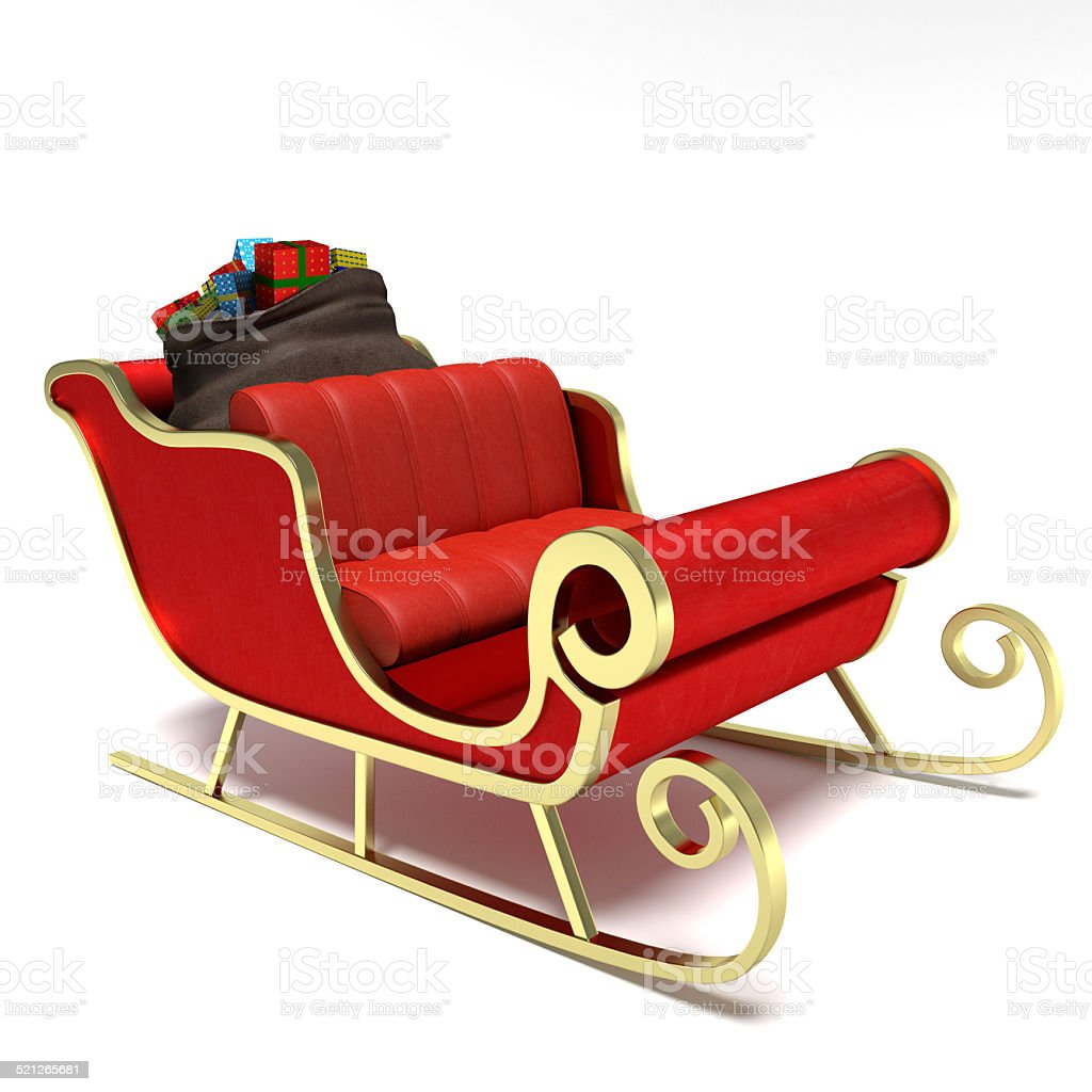 Santa Sleigh stock photo