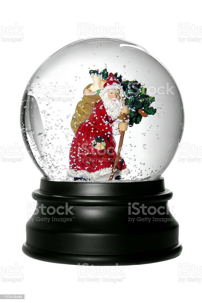 Santa Snow globe. stock photo