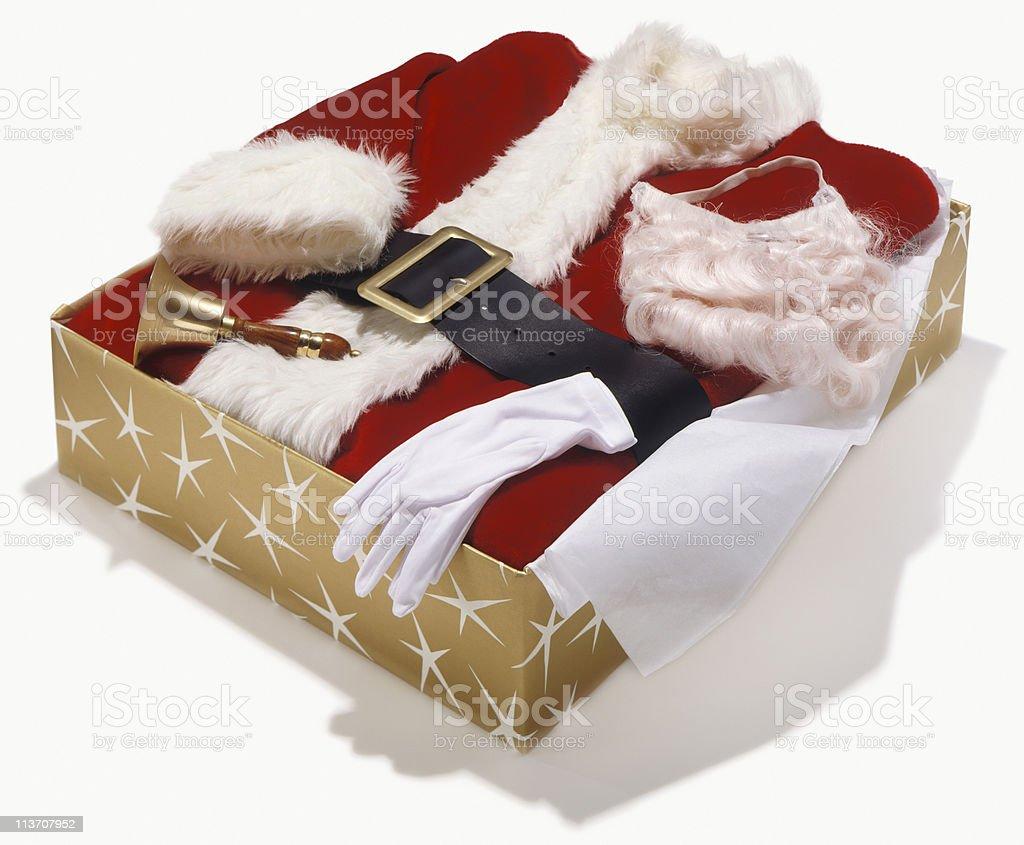 Santa suit royalty-free stock photo