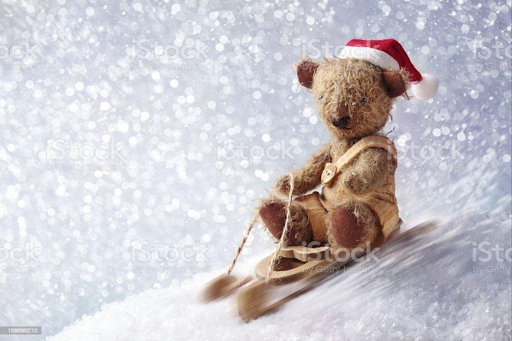 Santa teddy bear royalty-free stock photo