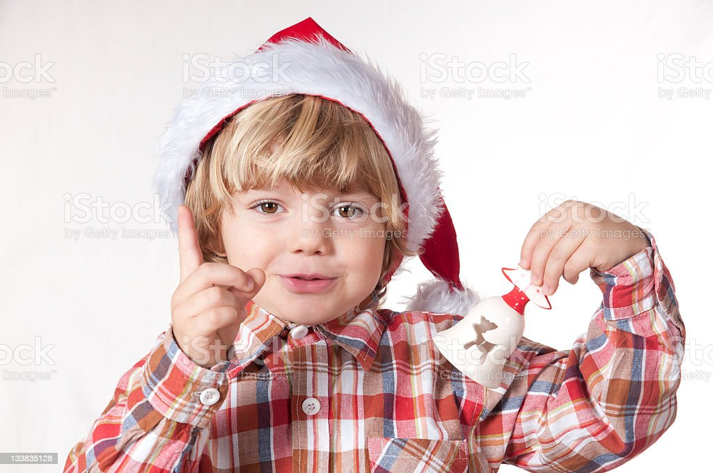 Santa, think well what will be my gift! stock photo