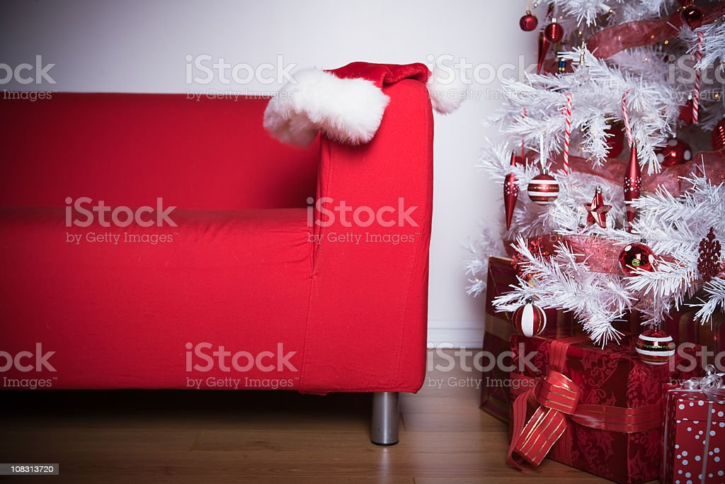 Santa was here royalty-free stock photo
