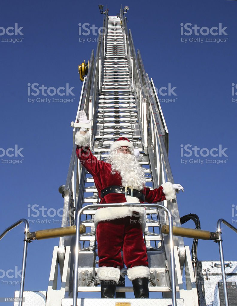 Santa Waving royalty-free stock photo