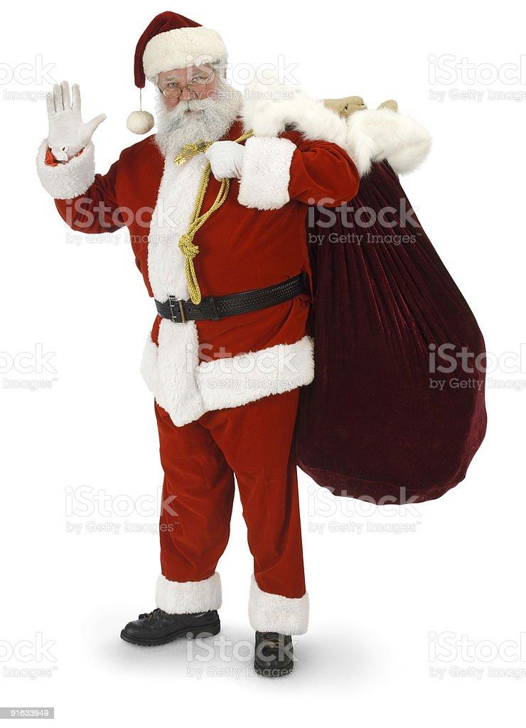 Santa Waving royalty-free stock photo