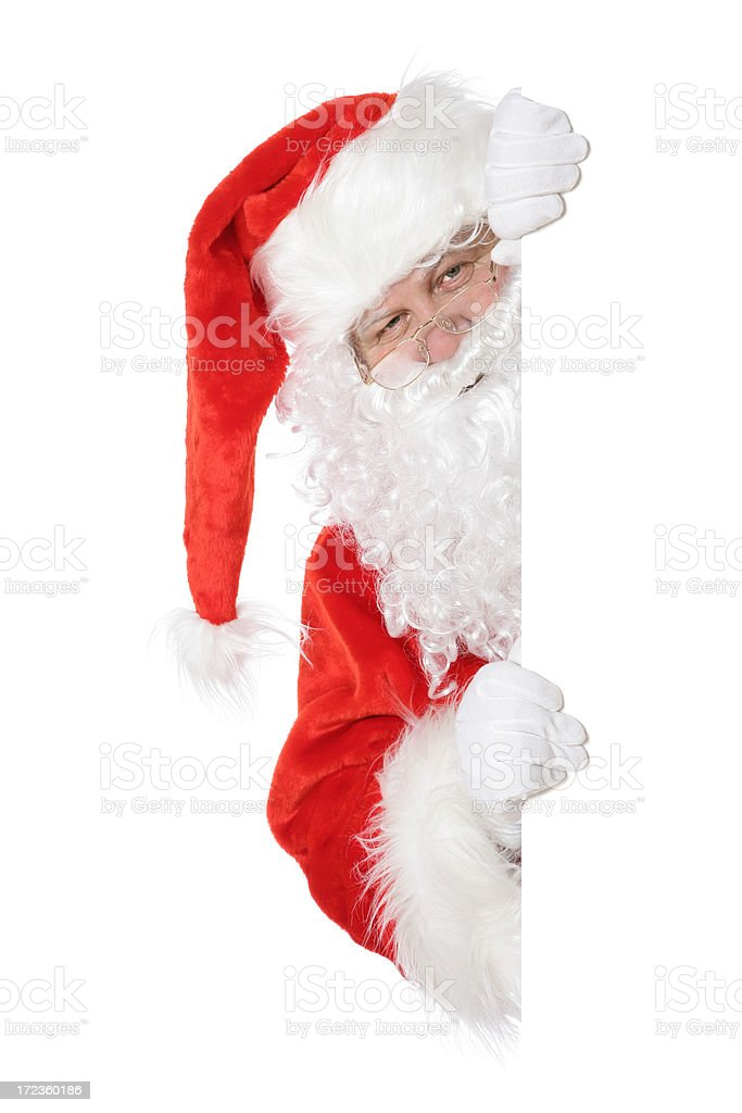 Santa with copyspace royalty-free stock photo