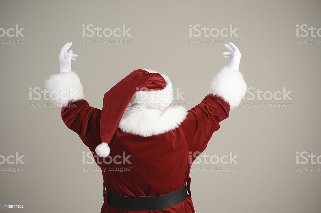 Santa with his back to the camera royalty-free stock photo