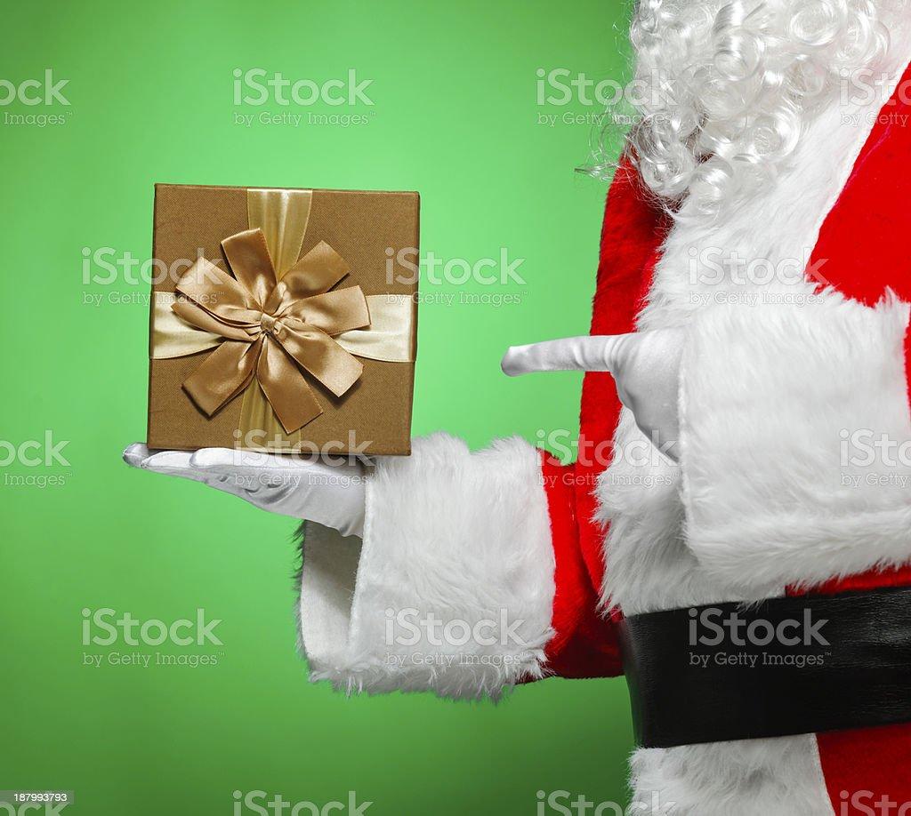 Santa with present royalty-free stock photo