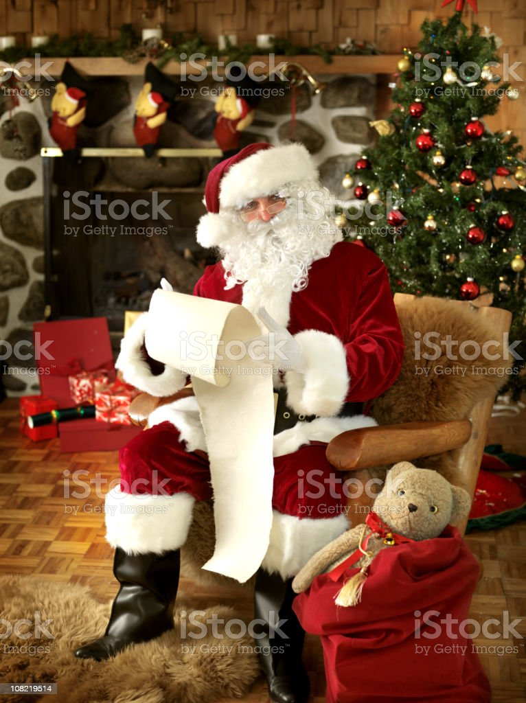 Santa with the list royalty-free stock photo
