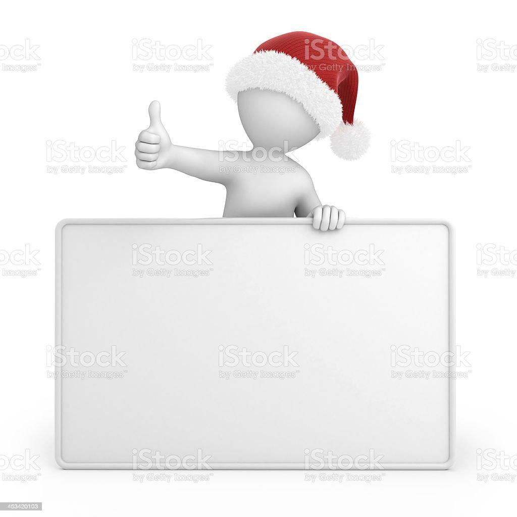 Santa with thumb up stock photo