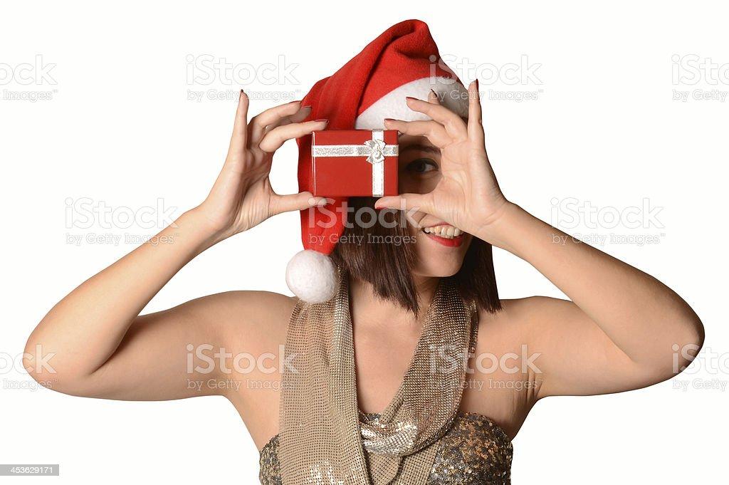 Santa Woman royalty-free stock photo