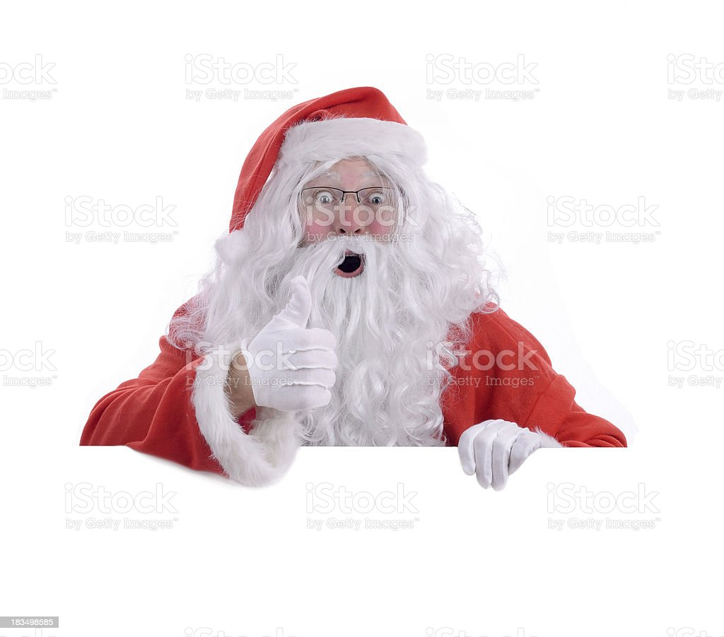 Santa you have been good royalty-free stock photo