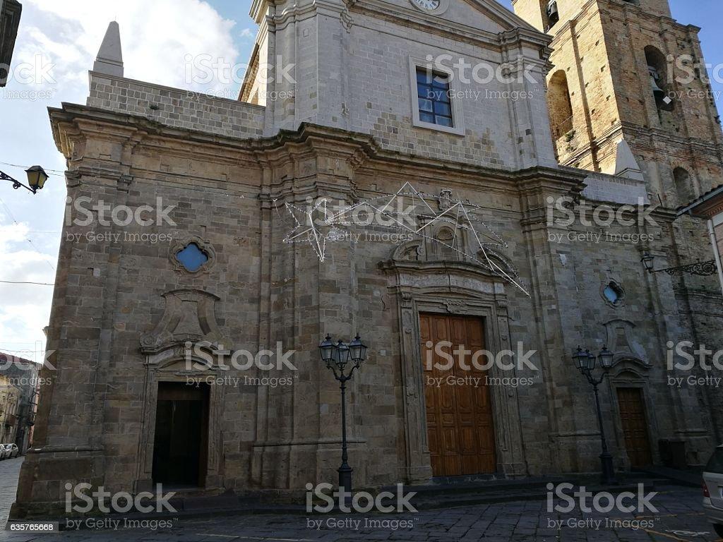 sant'Adamo Church in Guglionesi stock photo