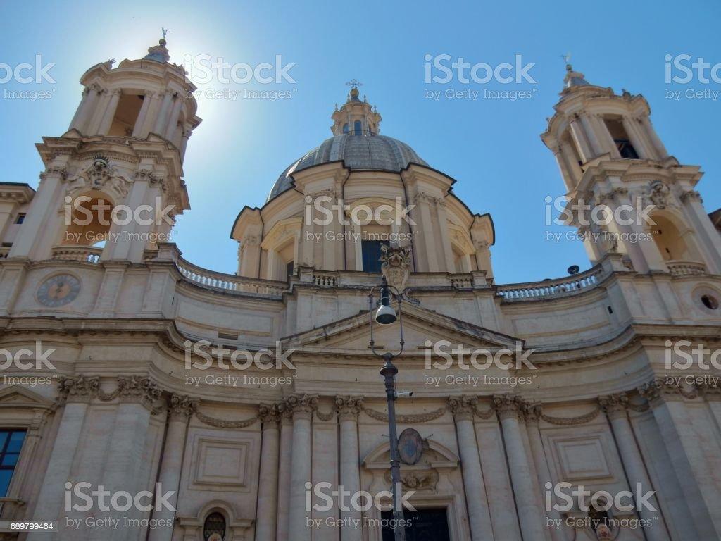 Sant'Agnese in Agone stock photo