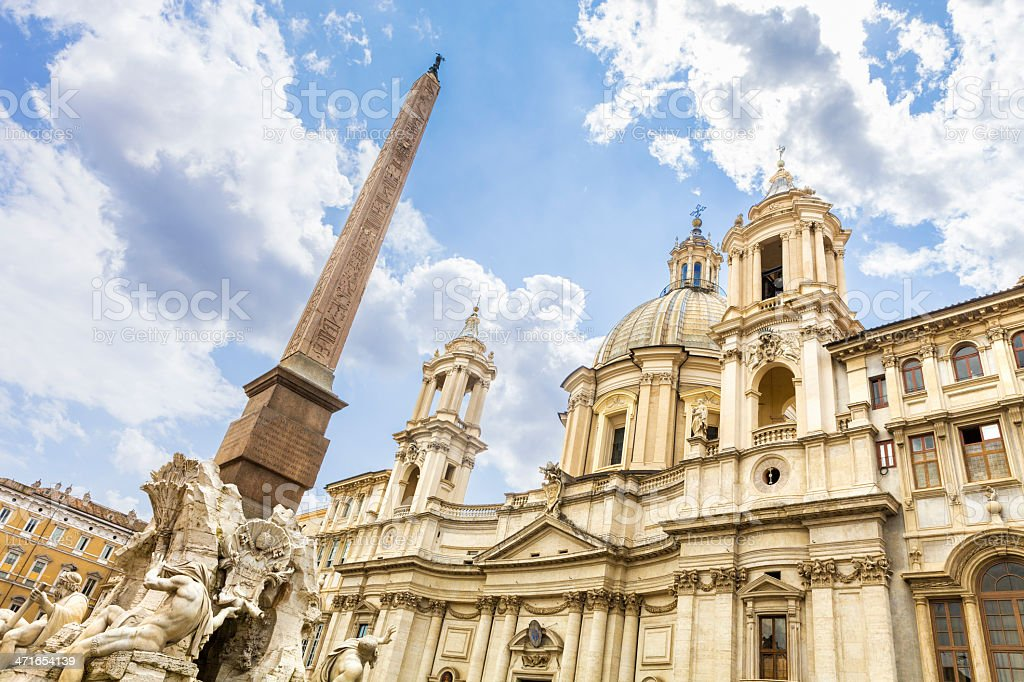 Sant'Agnese in Piazza Navona royalty-free stock photo