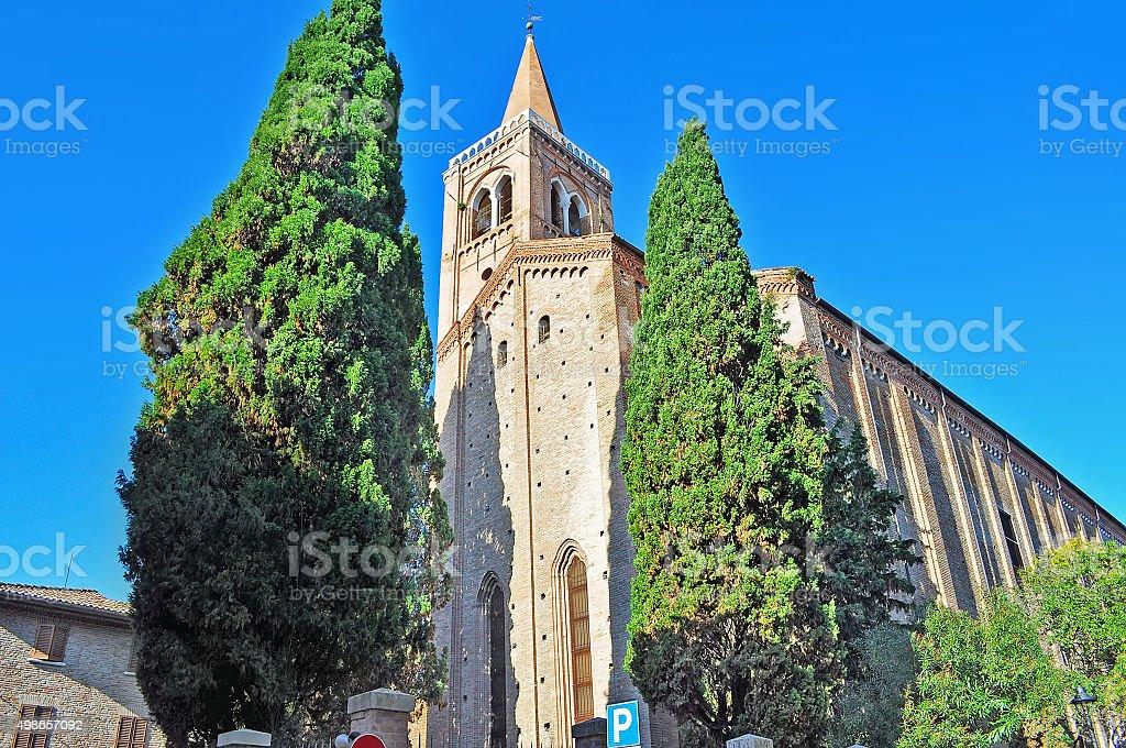 Sant'Agostino church in Rimini stock photo