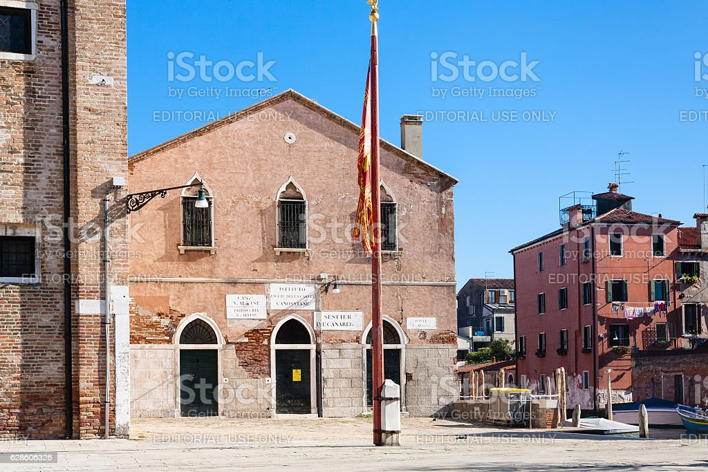 Sant'Alvise is a church in Venice stock photo