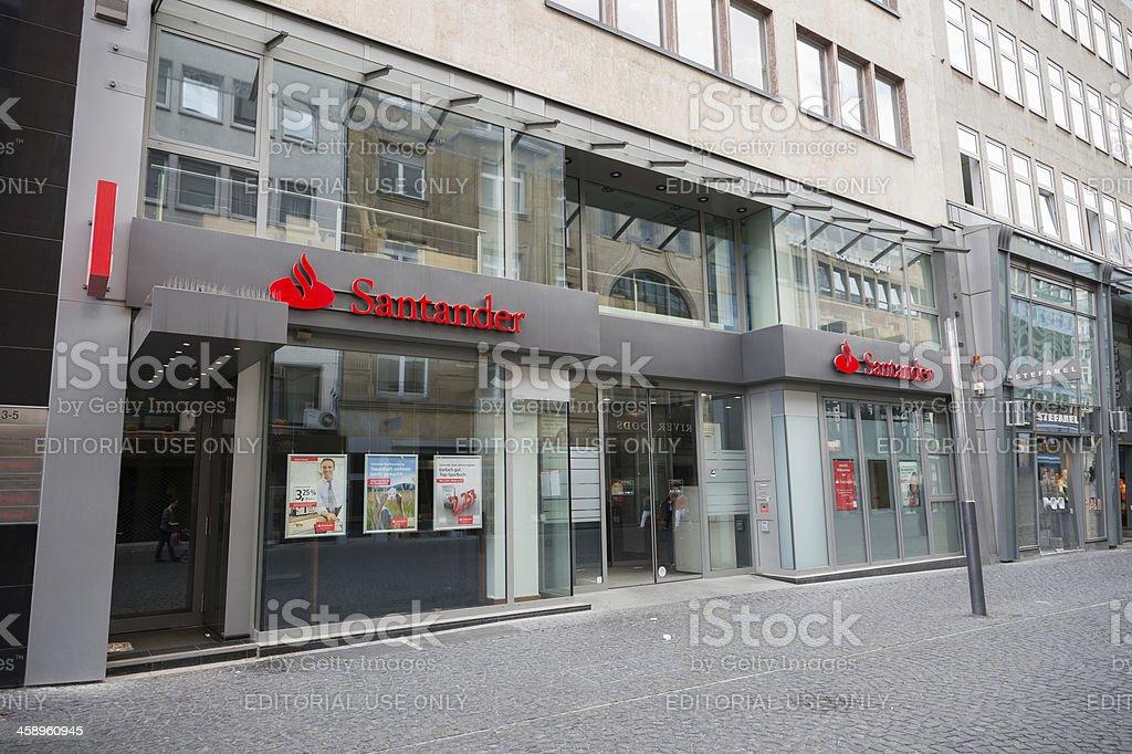 Santander Bank branch in Frankfurt, Germany stock photo