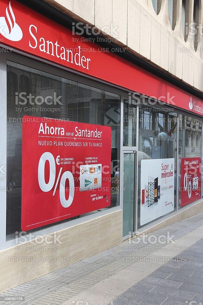 Santander Bank stock photo