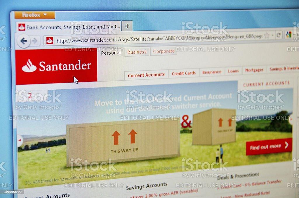 Santander bank. stock photo