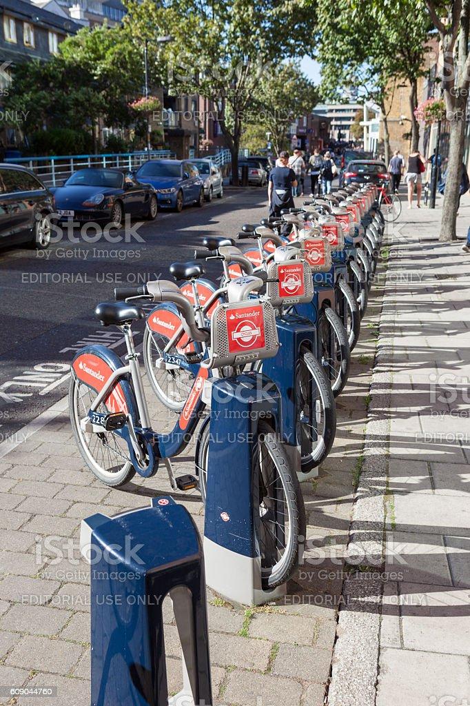 Santander Bikes stock photo