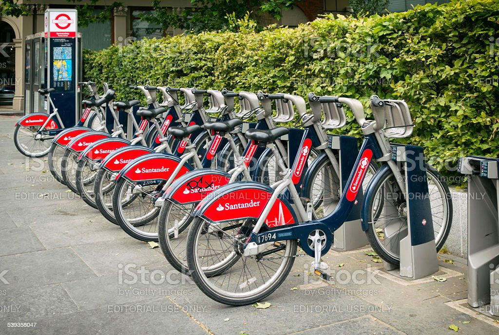 Santander 'Boris Bikes' stock photo