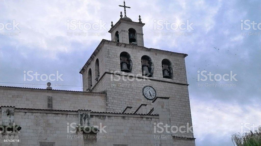 Santander Cathedral stock photo
