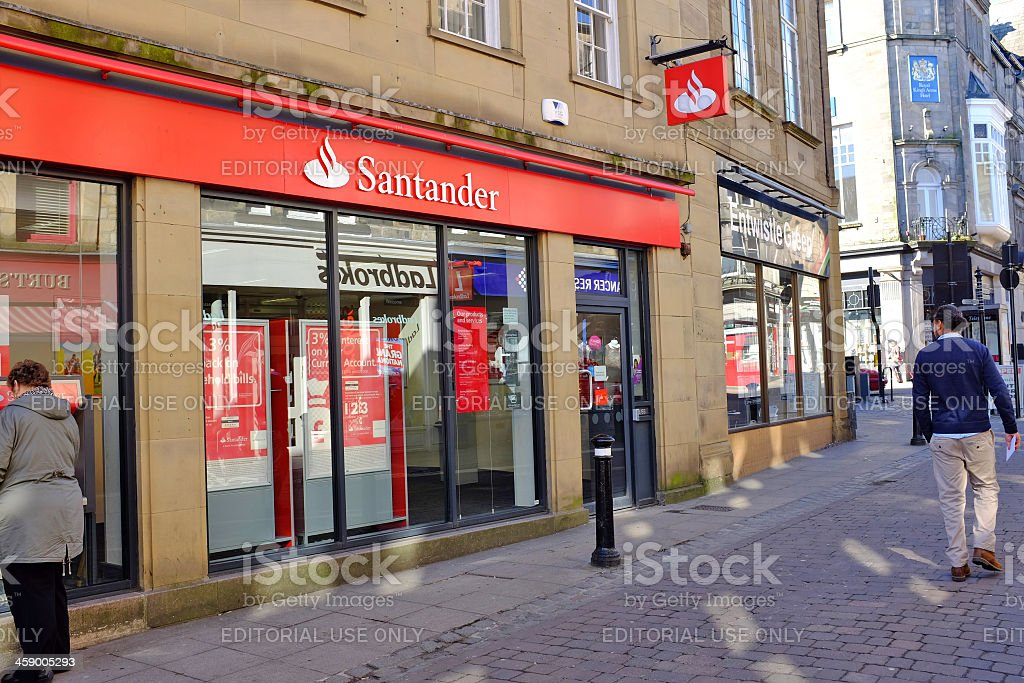 Santander Lancaster market Street stock photo