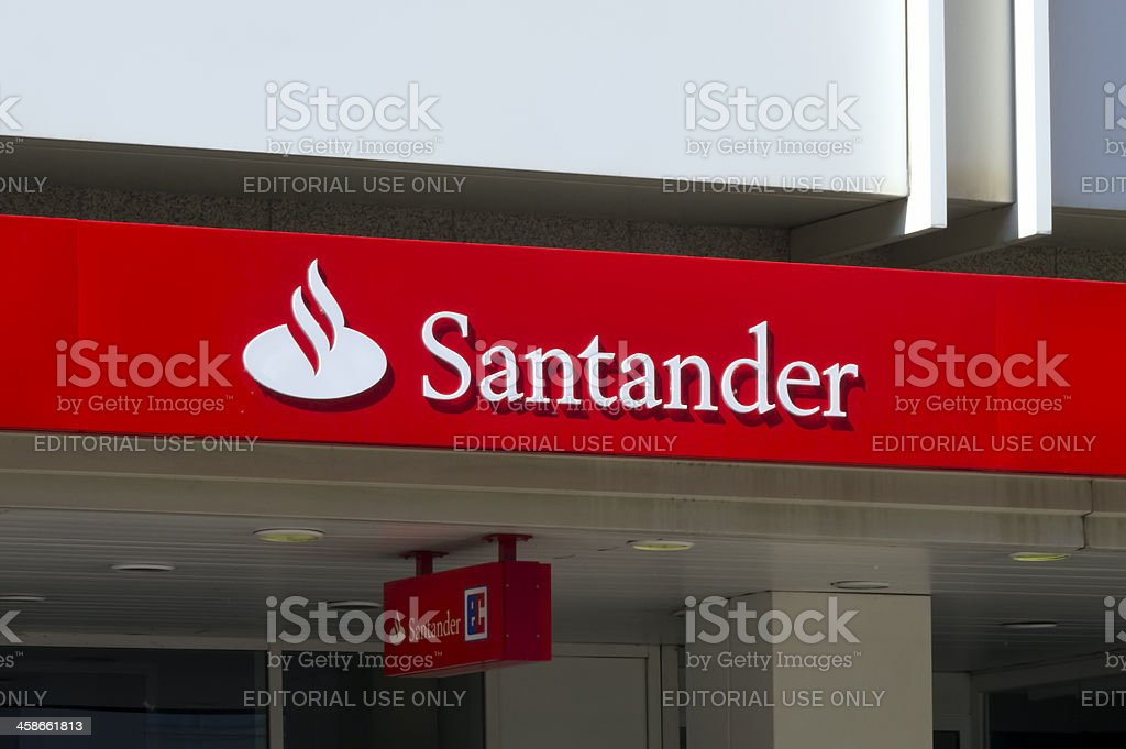 Santander logo stock photo
