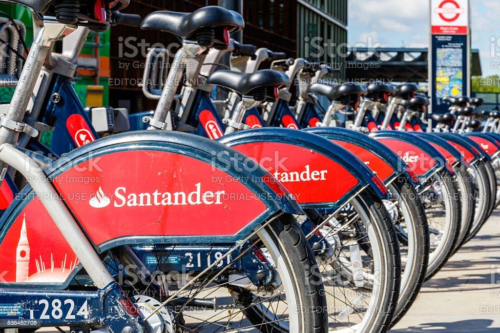 Santander Rental Bikes stock photo