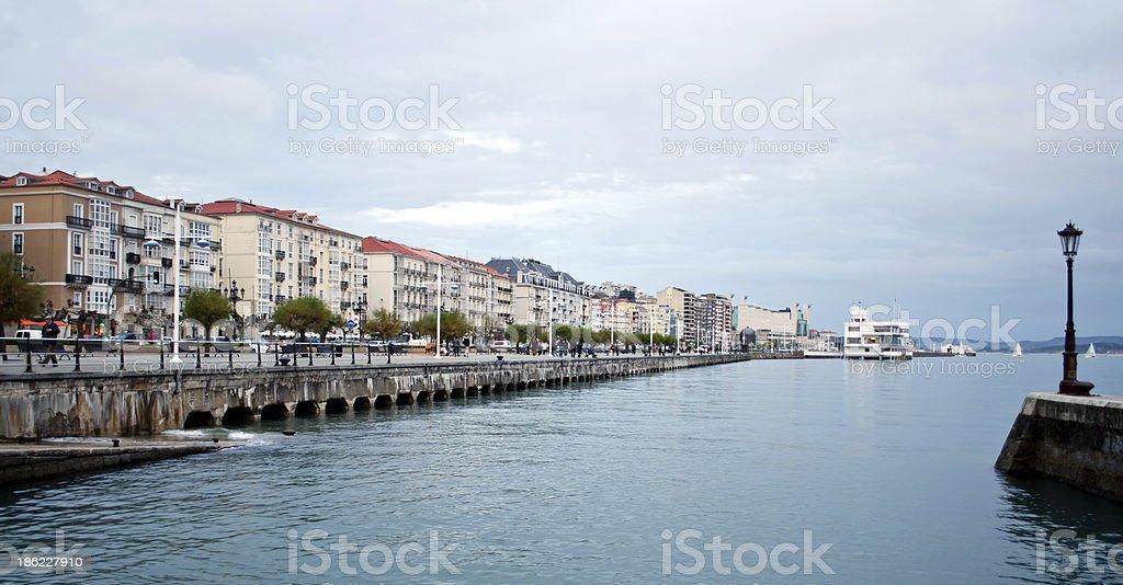 Santander skyline stock photo