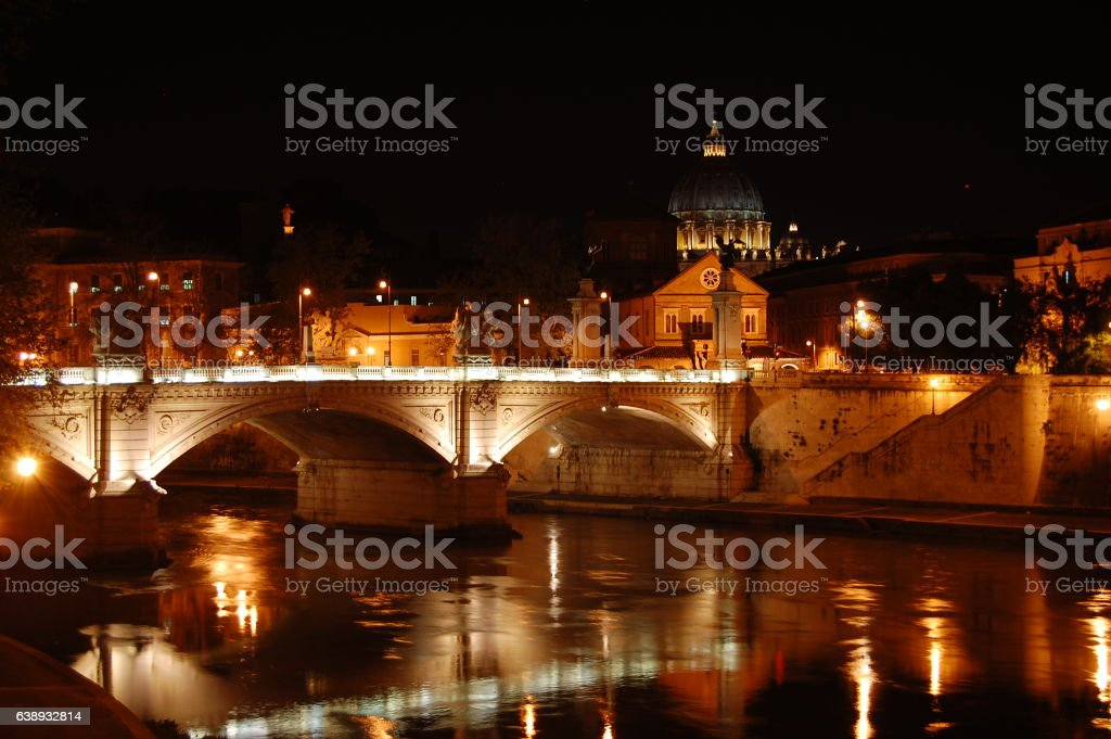 Ponte Sant'Angelo stock photo