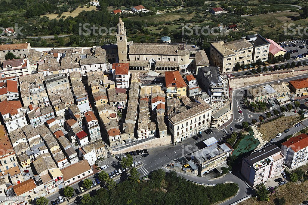 Citt? Sant'Angelo from above royalty-free stock photo