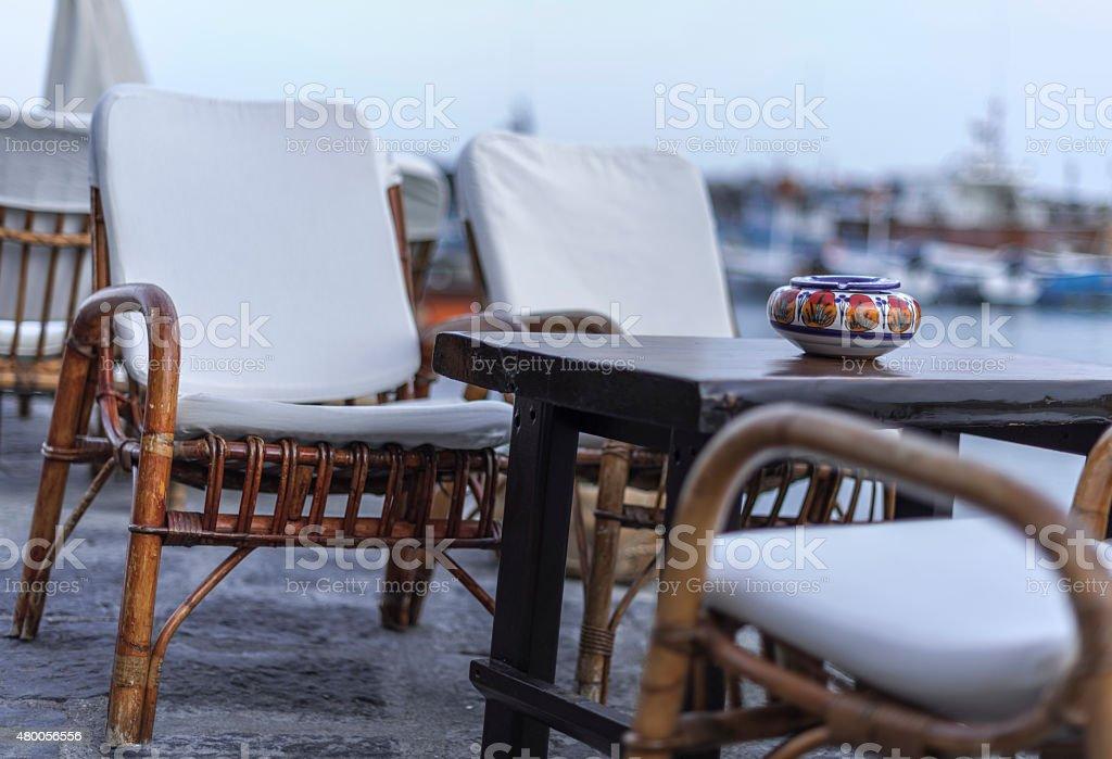 Sant'Angelo d'Ischia, bar harbor. Italo relax. Fashion stock photo