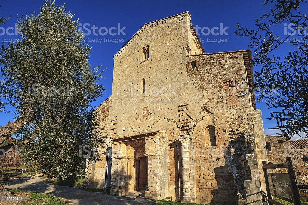 Sant'Antimo Abbey, Montalcino, Italy royalty-free stock photo