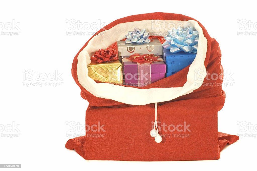 santas bag stock photo