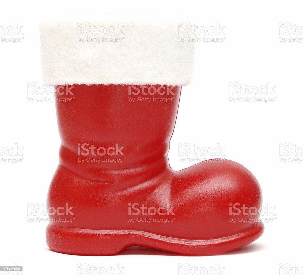 Santa's boot stock photo